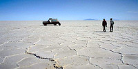 Driving across the Salar de Uyuni - BOLIVIA